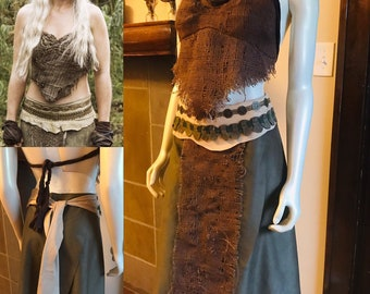 Game of Thrones Khaleesi Daenerys Targaryen Costume Cosplay Season 1