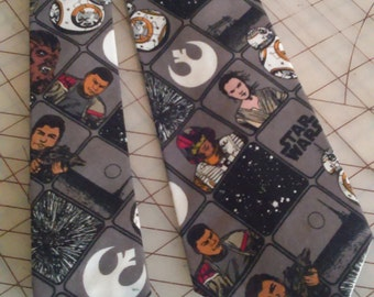 Star Wars The Force Awakens Neckties in bow tie, skinny tie, and standard tie styles, kids or adult sizes