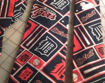 Detroit Tigers Neckties in bow tie, skinny tie, and standard tie styles, kids or adult sizes