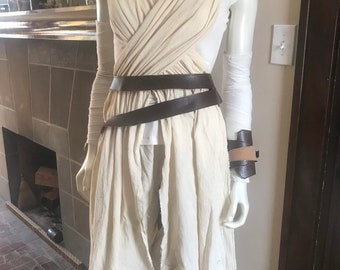Rey Cosplay Force Awakens Star Wars Costume for Adults or Kids, Custom Made