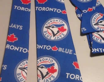 MLB Toronto Blue Jays Neckties in bow tie, skinny tie, and standard tie styles, kids or adult sizes