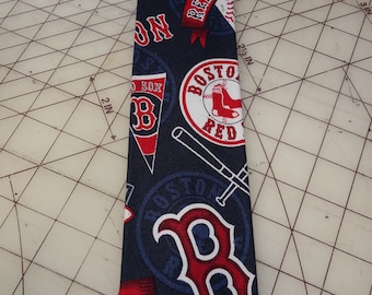 MLB Boston Red Sox Pennant Neckties in bow tie, skinny tie, and standard tie styles, kids or adult sizes