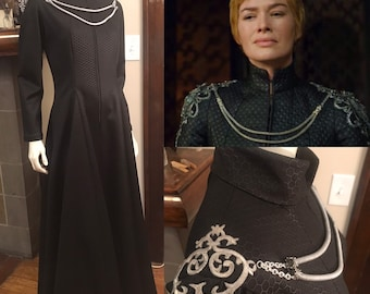 Cersei Lannister Game of Thrones Costume Cosplay Gown and Shoulder Armor
