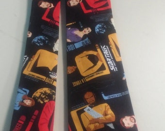 Star Trek Next Generation Neckties in skinny tie, and kids bow tie