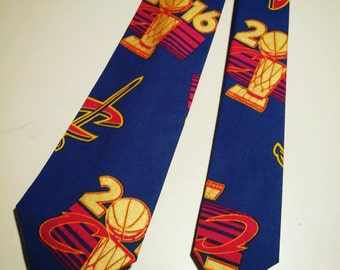 NBA Cleveland Cavaliers Championship Neckties in bow tie, skinny tie, and standard tie styles, kids or adult sizes
