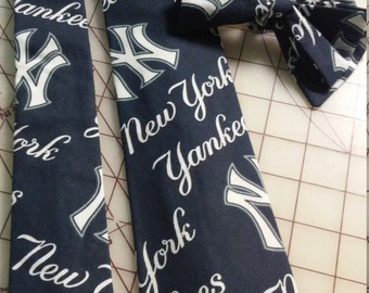 MLB New York Yankees Neckties in bow tie, skinny tie, and standard tie styles, kids or adult sizes
