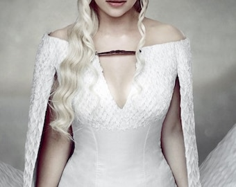 Game of Thrones Daenerys Targaryen Khaleesi costume Cosplay white gown dress