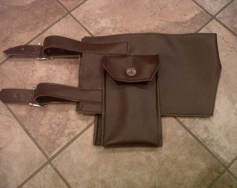 Faux Leather Cosplay Costume Hip Holster Belt