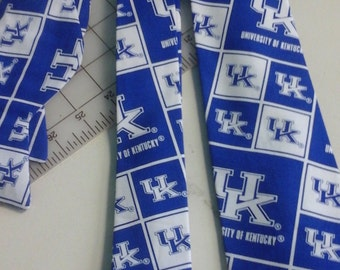 University of Kentucky Wildcats Neckties in bow tie, skinny tie, and standard tie styles, kids or adult sizes