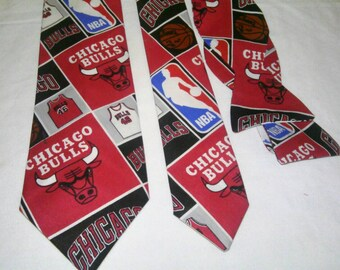 NBA Chicago Bulls Neckties in bow tie, skinny tie, and standard tie styles, kids or adult sizes