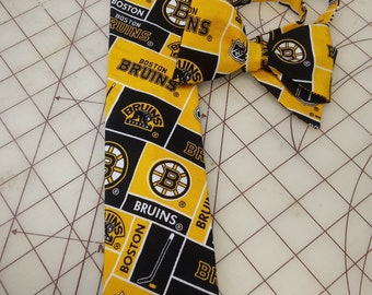 NHL Boston Bruins Neckties in bow tie, skinny tie, and standard tie styles, kids or adult sizes