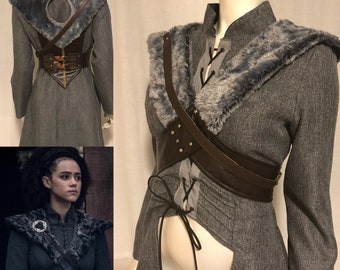 Missandei Game of Thrones Season 8 Costume Cosplay Cloak and Shoulder Harness