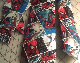 Marvel Comics Spiderman Neckties in bow tie, skinny tie, and standard tie styles, kids or adult sizes