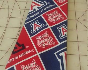 University of Arizona Neckties in bow tie, skinny tie, and standard tie styles, kids or adult sizes