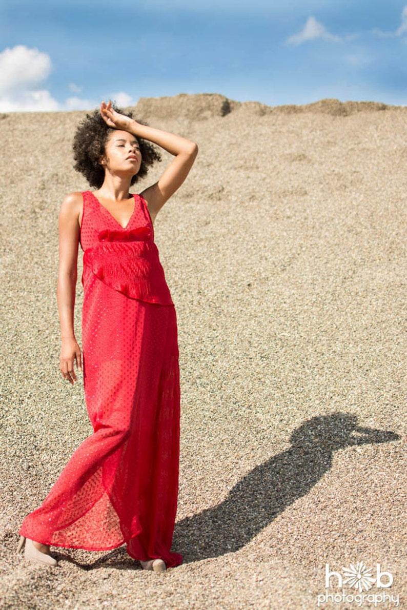 Layered Red Dress