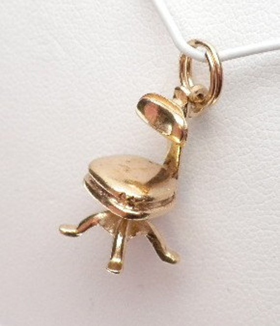 Hair Styling Chair or Desk Chair Charm 14 Karat Go