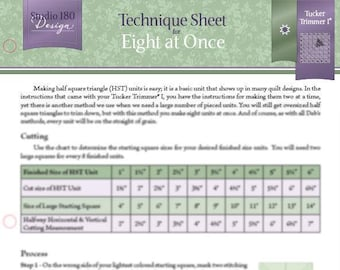 Eight at Once Technique Sheet