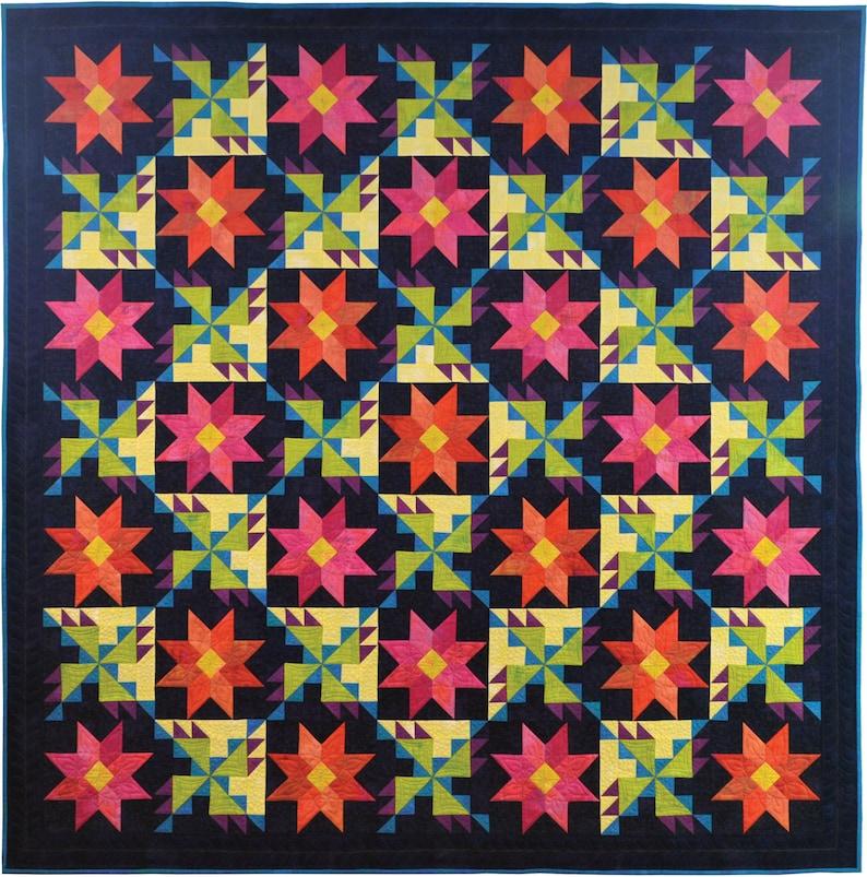 Moonlight Garden Quilt Pattern image 0