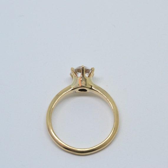 White Sapphire Solitaire Ring,  white sapphire ri… - image 4