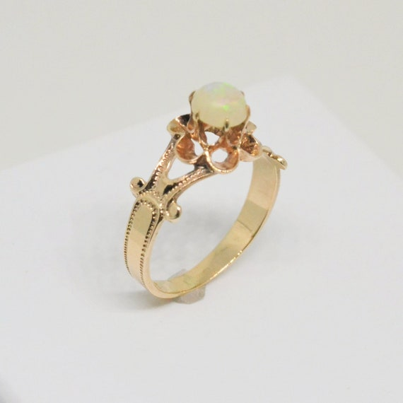 Antique opal ring, vintage opal ring, Victorian op