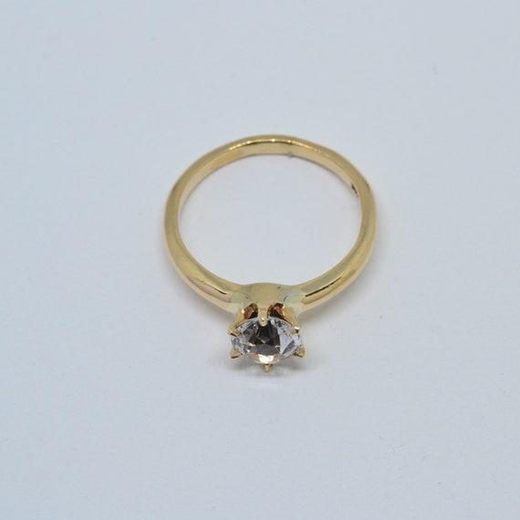 White Sapphire Solitaire Ring,  white sapphire ri… - image 2