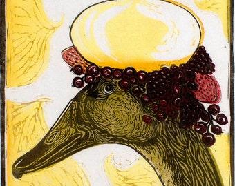 Duck Egg Meringue Recipe Illustration