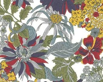 Liberty Tana Lawn Fabric, Liberty of London, Liberty Japan, Angelica Garla, Cotton Print Scrap,  Floral Design, Quilt, Patchwork, kt1034a