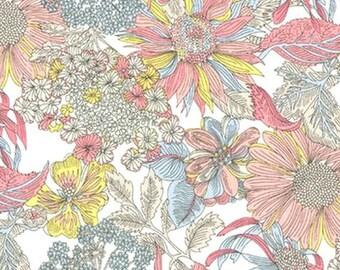 Liberty Tana Lawn Fabric, Liberty of London, Liberty Japan, Angelica Garla, Cotton Print Scrap,  Floral Design, Quilt, Patchwork, kt1034d