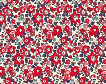 Betsy Ann, Liberty Tana Lawn Fabric, Liberty of London, Liberty Lovers Gift, Liberty Japan, Cotton Print Scrap,Floral Patchwork Quilt Fabric