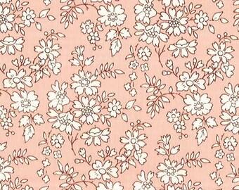 Pink Capel, Floral Pink, Liberty Tana Lawn Fabric, Liberty of London, Liberty Japan, Patchwork Quilt Scrap Fabric, Liberty Lovers gift