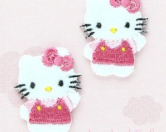 Mini hello kitty patch kawaii sanrio embroidered iron on etsy