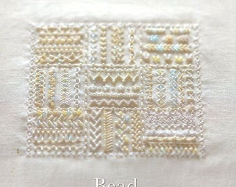 Bead Embroidery Samplers 130 - Japanese Craft Book, Yasuko Endo, Gorgeous Beading Hand Embroidery Design, Easy Embroidery Tutorial - B920