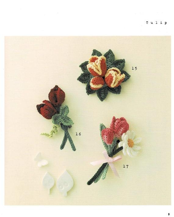 Bunte mädchenhaft häkeln Blumencorsage Stickerei Threads | Etsy