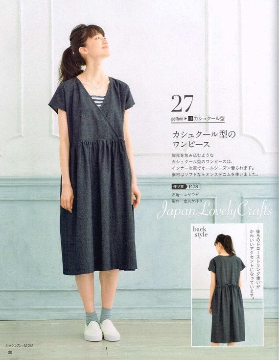 Einfache und bequeme Kleidung japanische Nähen Muster-Buch | Etsy