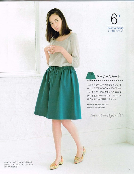Easy Skirt & Pants Patterns Japanese Sewing Pattern Book for