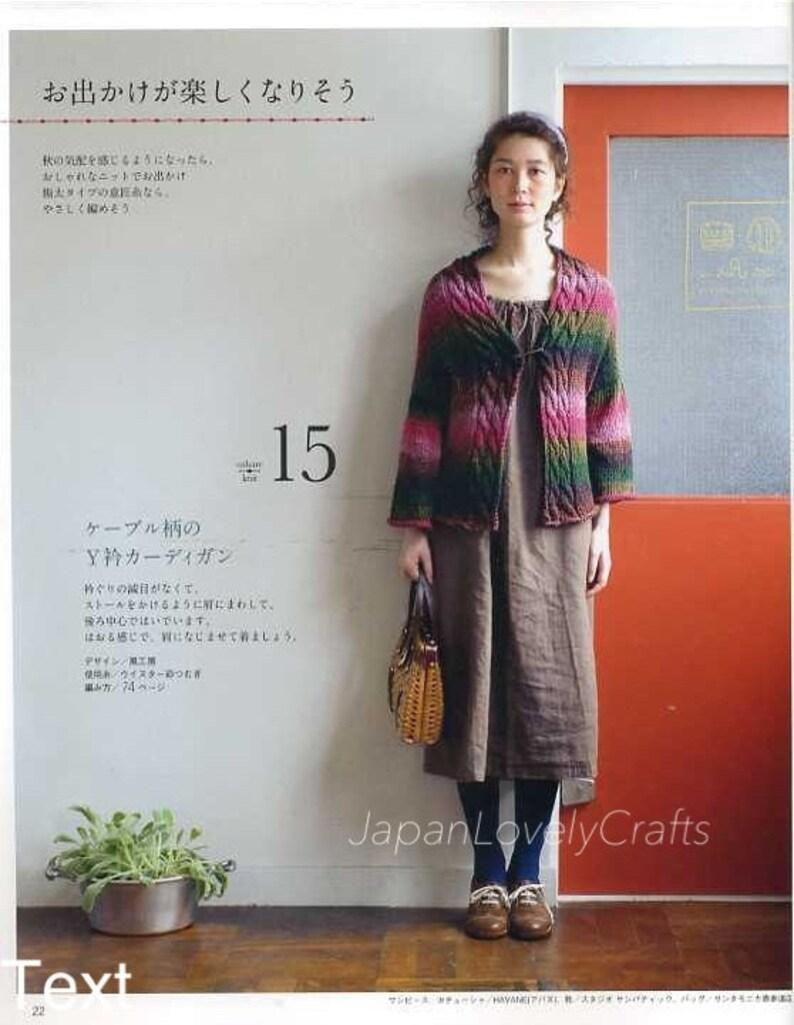 542660c09466d Easy Stylish Knit Pattern Japanese Knitting   Crochet Book
