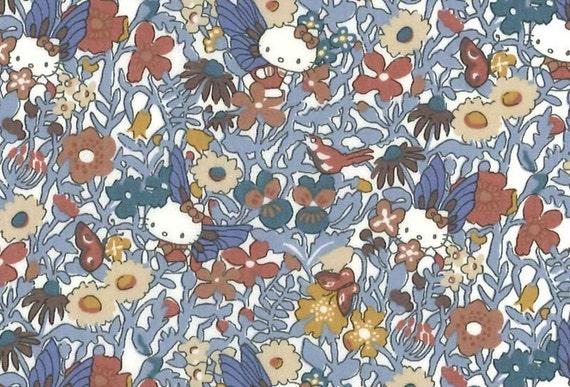 Hello Kitty Wonder Land Liberty Print Cotton Scrap Kawaii Quilting gift Patchwork Fabric Liberty Tana Lawn Fabric Liberty Japan Limited
