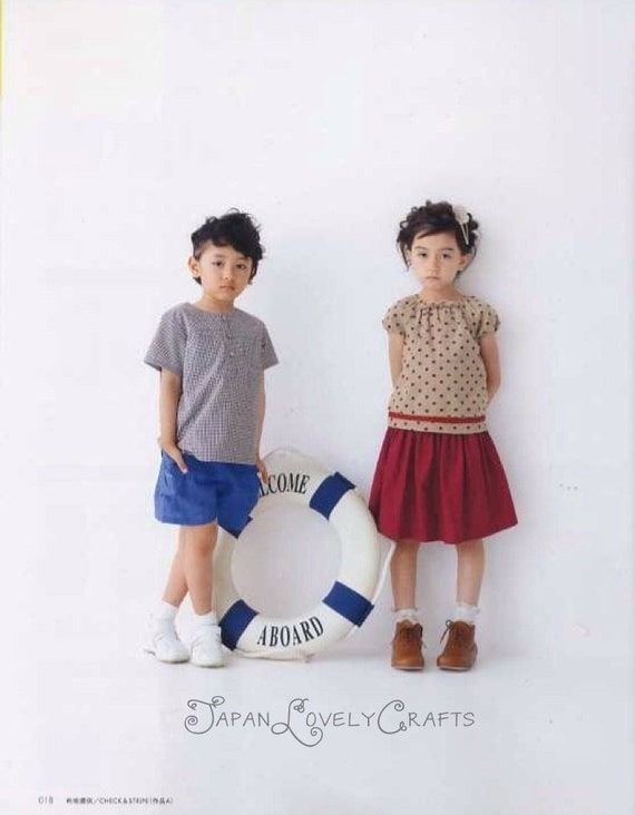 Kids Casual Clothing Patterns Yuki Katagai Japanese Sewing Etsy