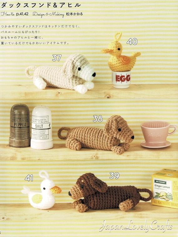Kawaii Hund Eco Wäscher Amigurumi Mustern Japanisch häkeln | Etsy