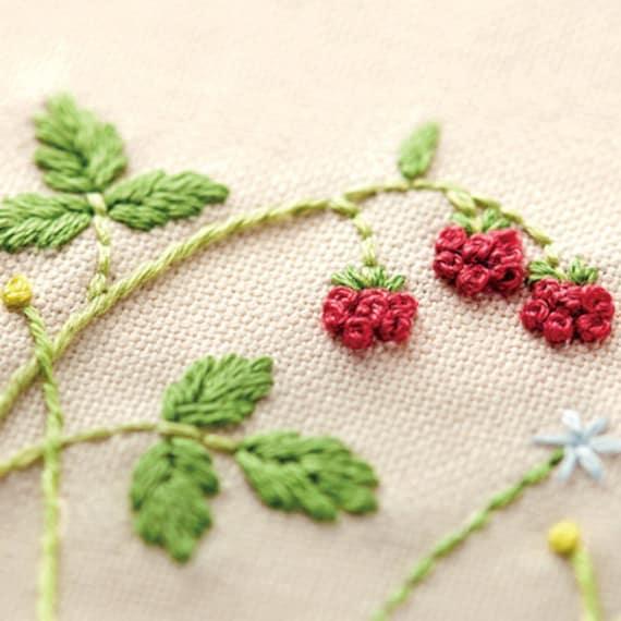 Berry Tea Mat Japanese Embroidery Kit Beginner Kazuko Aoki Etsy