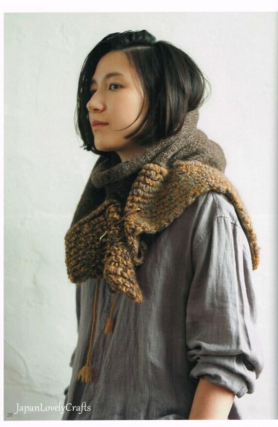 Japanische Stricken & Häkeln Musterbuch Schal Snood Mütze