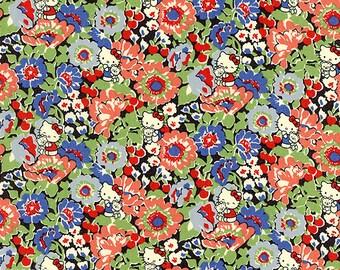 Liberty Tana Lawn Fabric - Liberty Japan Limited, Haruka Daisy, Cute Liberty Print Cotton Scrap, Kawaii Patchwork Quilt Fabric, ntkitty84f