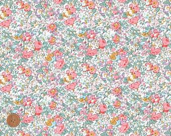 Liberty Tana Lawn Fabric, Liberty Gift, Liberty of London, Liberty Japan, Claire-Aude, Cotton Flower Print Scrap,  Floral Patchwork Quilt