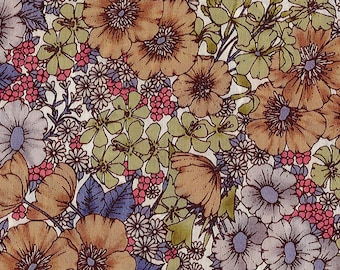 Gloria Flowers, Liberty Tana Lawn Fabric, Liberty of London, Liberty Japan, Floral Print Cotton Fabric, Patchwork Quilt Scrap, kt10480z