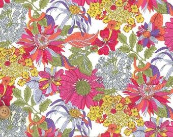 Liberty Tana Lawn Fabric, Liberty of London, Liberty Japan, Angelica Garla, Cotton Flower Print Fabric, Floral Patchwork Quilt Scrap,kt1034b