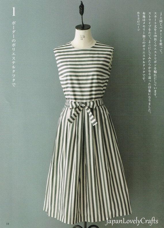 best service 6621d 463e3 Machiko Kayaki, modello vestito stile semplice, facile da cucire Tutorial  per abbigliamento donna, abbigliamento in stile giapponese, un pezzo di ...