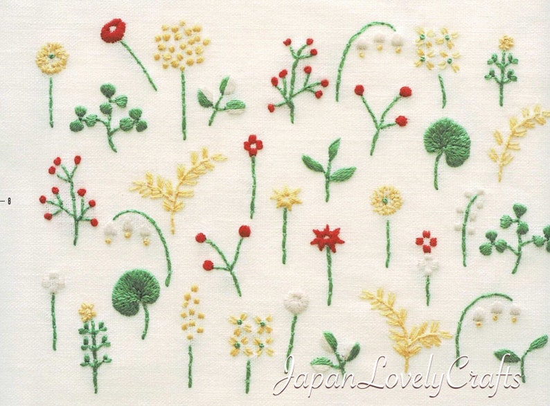 Hand Embroidery Nature Art Motif Patterns Embroider Gifts Etsy