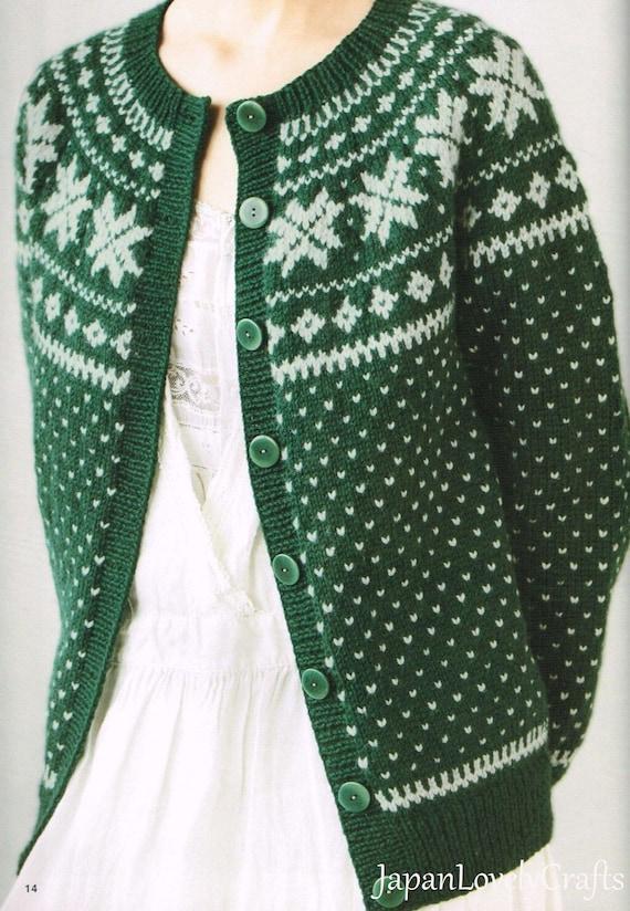 Kazekobo Fair Isle Nordic Knit Japanese Knitting Pattern Etsy