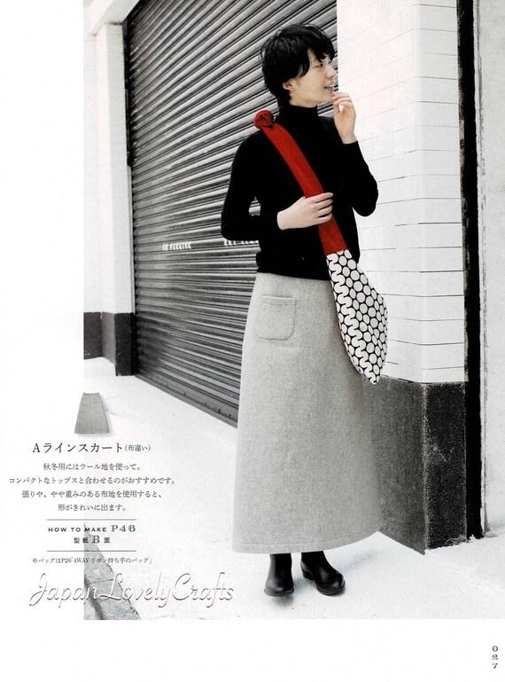 Feminin einfaches Kleid Muster japanische Nähen Muster-Buch