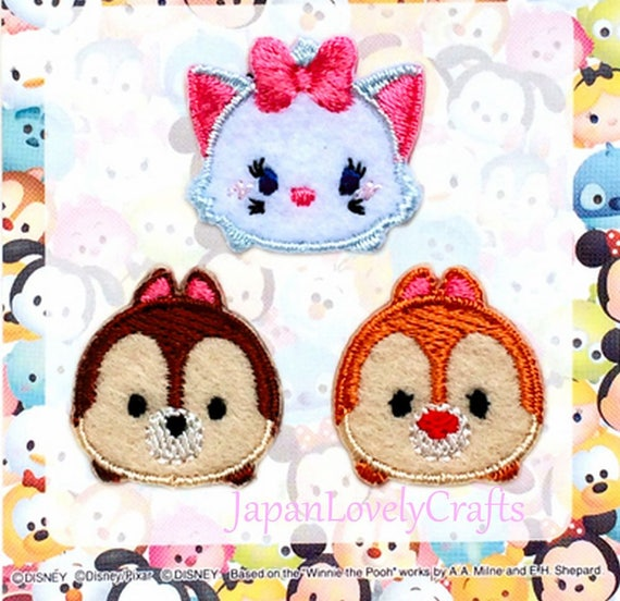 Chip and Dale Iron On Cloth Patch Cartoon Embroidery Applique Badge New